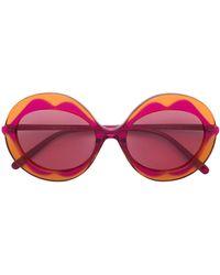 Marni - Round Frame Lips Sunglasses - Lyst