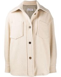 Alberto Biani Shearling Jacket - Natural