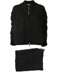 Louis Vuitton Anzug mit Bomberjacke und Shorts - Schwarz