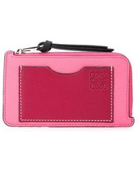 Loewe Colour-block wallet - Rose