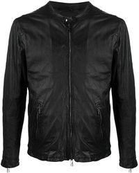 Giorgio Brato ジップポケット レザージャケット - ブラック