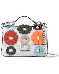 Fendi | Embellished Leather Micro Double Baguette Shoulder Bag | Lyst
