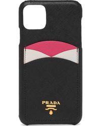 Prada Colour-block Iphone 11 Pro Max Case - Black