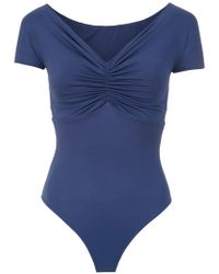 Amir Slama - Swimsuit With Gathered Details - Lyst
