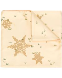 Hermès Платок Snowflake 2000-х Годов Pre-owned - Желтый
