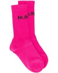 Balenciaga ロゴ 靴下 - ピンク