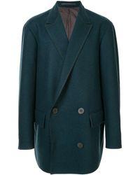 Kolor Manteau à boutonnière croisée - Bleu