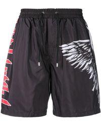Philipp Plein - Angel Print Swim Shorts - Lyst