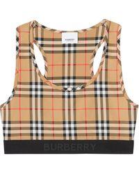 Burberry ヴィンテージチェック スポーツブラ - ブラウン