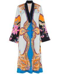 Etro Cappotto Silk Robe