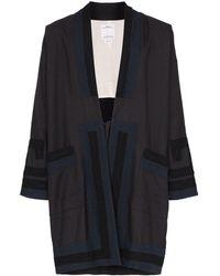 Visvim Giacca stile kimono con pannelli a contrasto - Nero