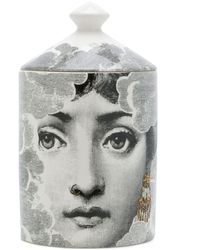 Fornasetti Face Print Candle - Black