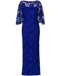 Lauren by Ralph Lauren - Long Lace Gown - Lyst