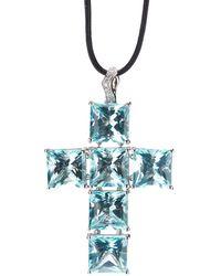 Gavello Cross Pendant Necklace - Zwart