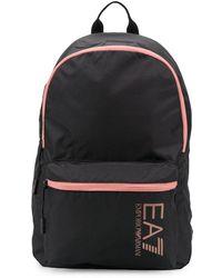 EA7 ロゴ バックパック - ブラック