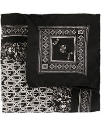 Dolce & Gabbana Foulard d'inspiration bandana à logo imprimé - Noir