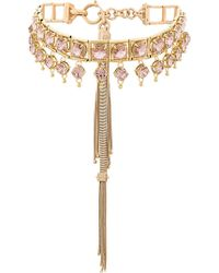 Prada - All Designer Products - Bejewelled Tassel Necklace - Lyst