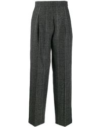 Sandro High-waist Tailored Trousers - Grey