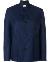 Marni Mandarin Collar Jacket - Blue