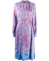 Stine Goya Jungle プリント ドレス - ブルー