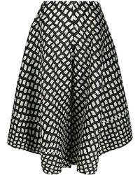 Pleats Please Issey Miyake Patterned Wide-leg Trousers - Black