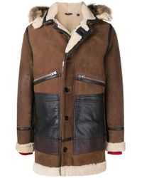 Schott Nyc Yeti Fox Fur Trimmed Hood Parka - Brown