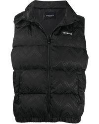 Versace フーデッド ダウンベスト - ブラック