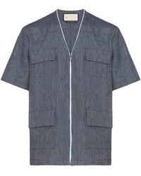 PREVU Mansour Collarless Shirt - Multicolour