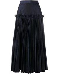 Enfold レイヤード マキシスカート - ブルー