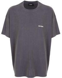 we11done T-Shirt mit Rundhalsausschnitt - Grau