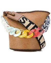 Stella McCartney ステラ ロゴ チェーン バケットバッグ - マルチカラー