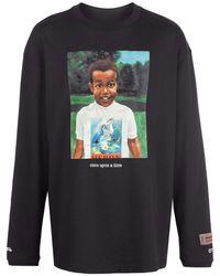 Heron Preston グラフィック Tシャツ - ブラック