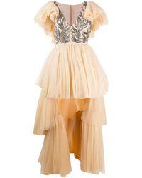Parlor スパンコール イブニングドレス - マルチカラー