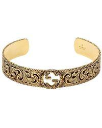 Gucci Armspange aus Gelbgold mit GG - Mettallic