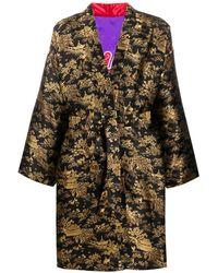Doublet Jacquard Print Kimono - Black