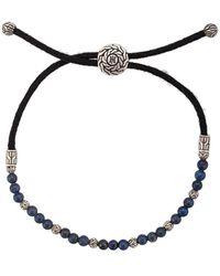 John Hardy - Silver Classic Chain Lapis Lazuli Bead Pull Through Bracelet - Lyst