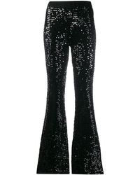 P.A.R.O.S.H. Runway Sequin Trousers - Black