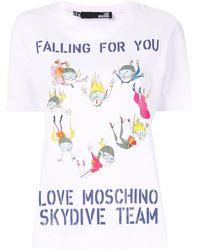 Love Moschino Skydive Team T-shirt - White