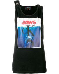 CALVIN KLEIN 205W39NYC Jaws タンクトップ - ブラック
