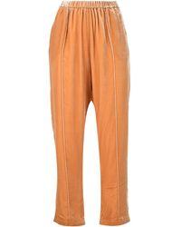 Mes Demoiselles Укороченные Спортивные Брюки - Оранжевый