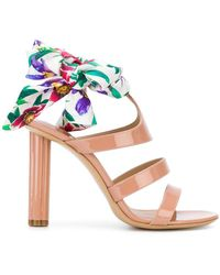 Ferragamo - Scarf Tie Sandals - Lyst