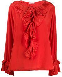P.A.R.O.S.H. Blusa plissettata - Arancione