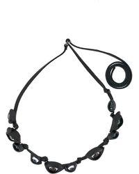 Yohji Yamamoto Light Eye Necklace - Black
