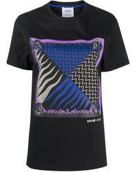 Koche Camiseta con estampado Lupa de KOCHÉ x Emilio Pucci - Negro