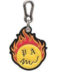 Palm Angels Burning Head Keychain - Black