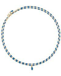 Isabel Marant Collar de cadena con cuentas - Azul