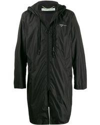 Off-White c/o Virgil Abloh Mid-length Zipped Raincoat - Black