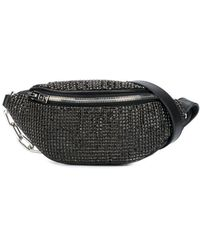 Alexander Wang Atticca Mini Rhinestone Bag - Black