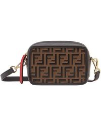 Fendi Mini Camera Case Crossbody Bag - Black