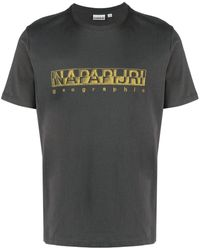 Napapijri ロゴ Tシャツ - グレー